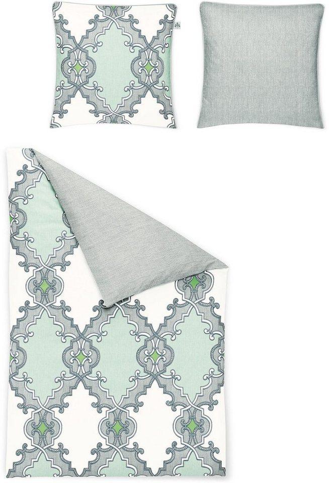 Wendebettwäsche, Irisette, »Sol-K 8505«, mit Ornamenten in grau