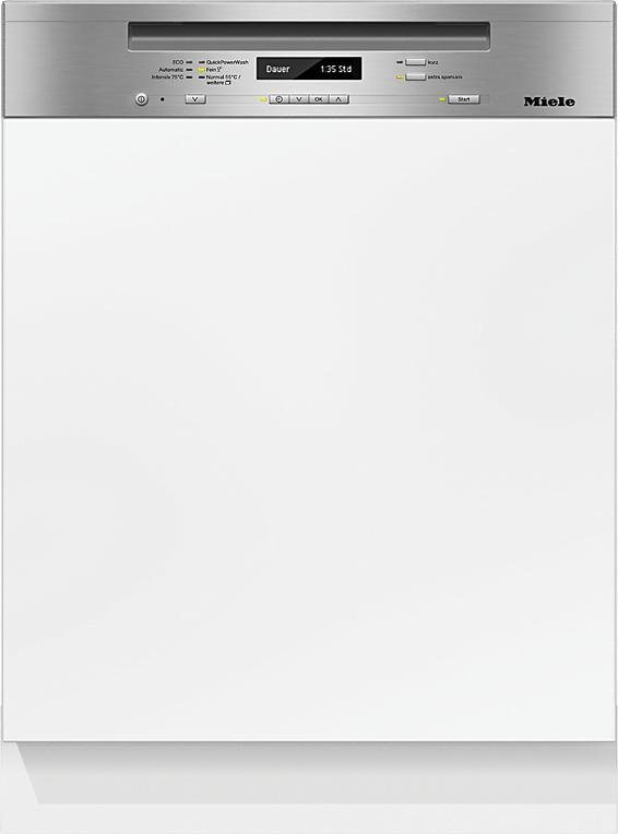 MIELE Teilintegrierbarer Geschirrspüler G 6735 SCi XXL, A+++, 9,7 Liter, 14 Maßgedecke in silberfarben