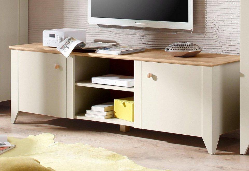 Home affaire TV-Lowboard »Landy«, Breite 187 cm. in Nebelgrau/ Eiche Carmaque NB