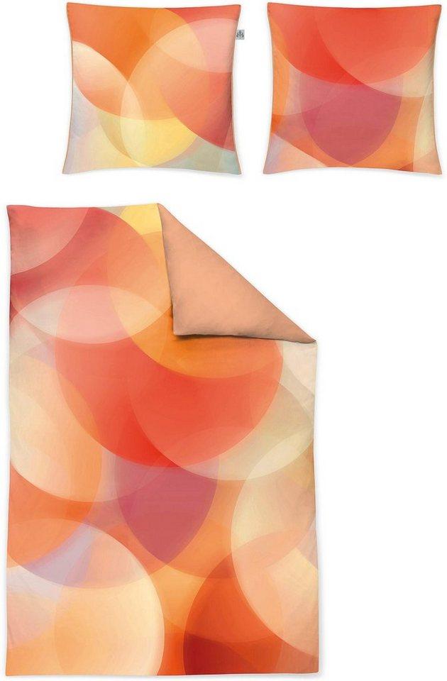Wendebettwäsche, Irisette, »Juwel-K 8854«, mit Kreisen in orange