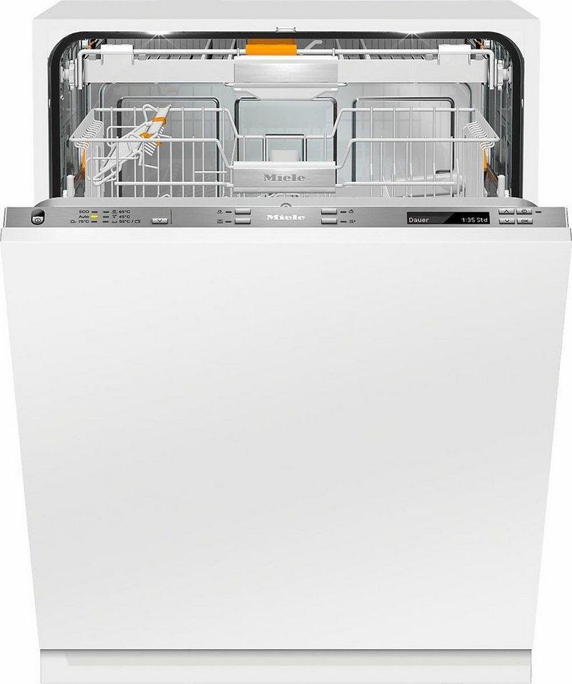 MIELE Vollintegrierbarer Einbaugeschirrspüler G 6890 SCVi K2O, A+++, 9,9 Liter, 14 Maßgedecke in silberfarben