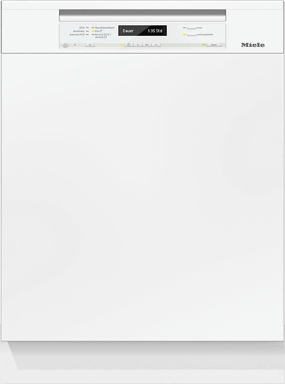 MIELE Teilintegrierbarer Geschirrspüler G 6730 SCi, A+++, 9,7 Liter, 14 Maßgedecke in weiß