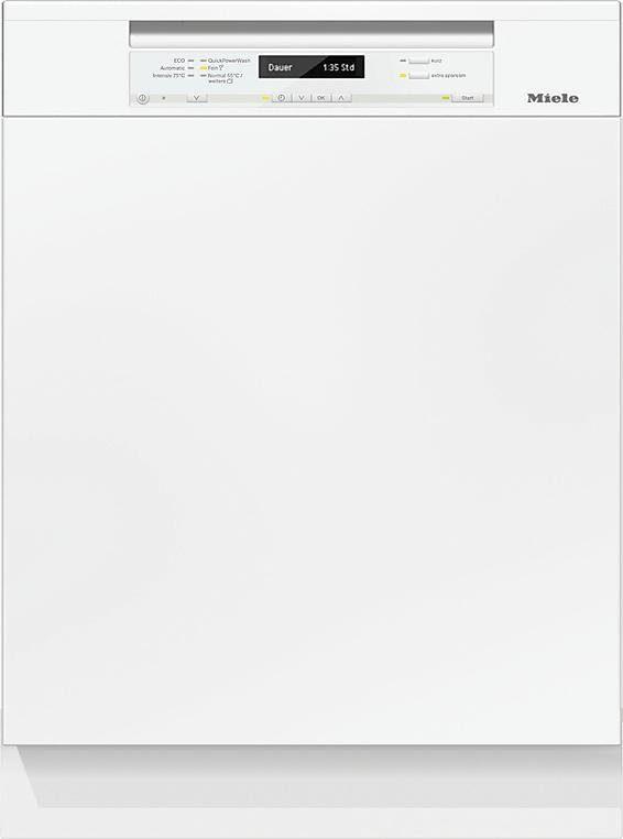 Miele teilintegrierbarer Geschirrspüler, G 6735 SCi XXL weiß, 9,7 l, 14 Maßgedecke
