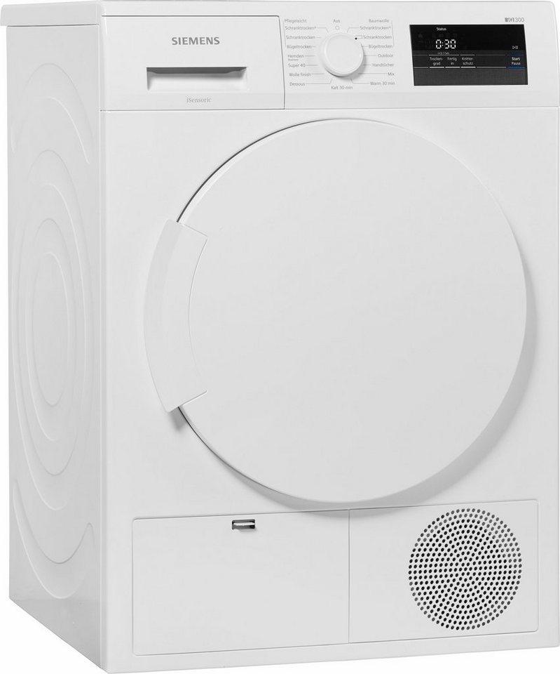 SIEMENS Trockner WT43H000, A+, 7 kg in weiß