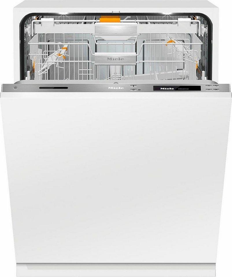 MIELE Vollintegrierbarer Einbaugeschirrspüler G 6997 SCVi XXL K2O, A+++, 9,9 Liter, 14 Maßgedecke in silberfarben