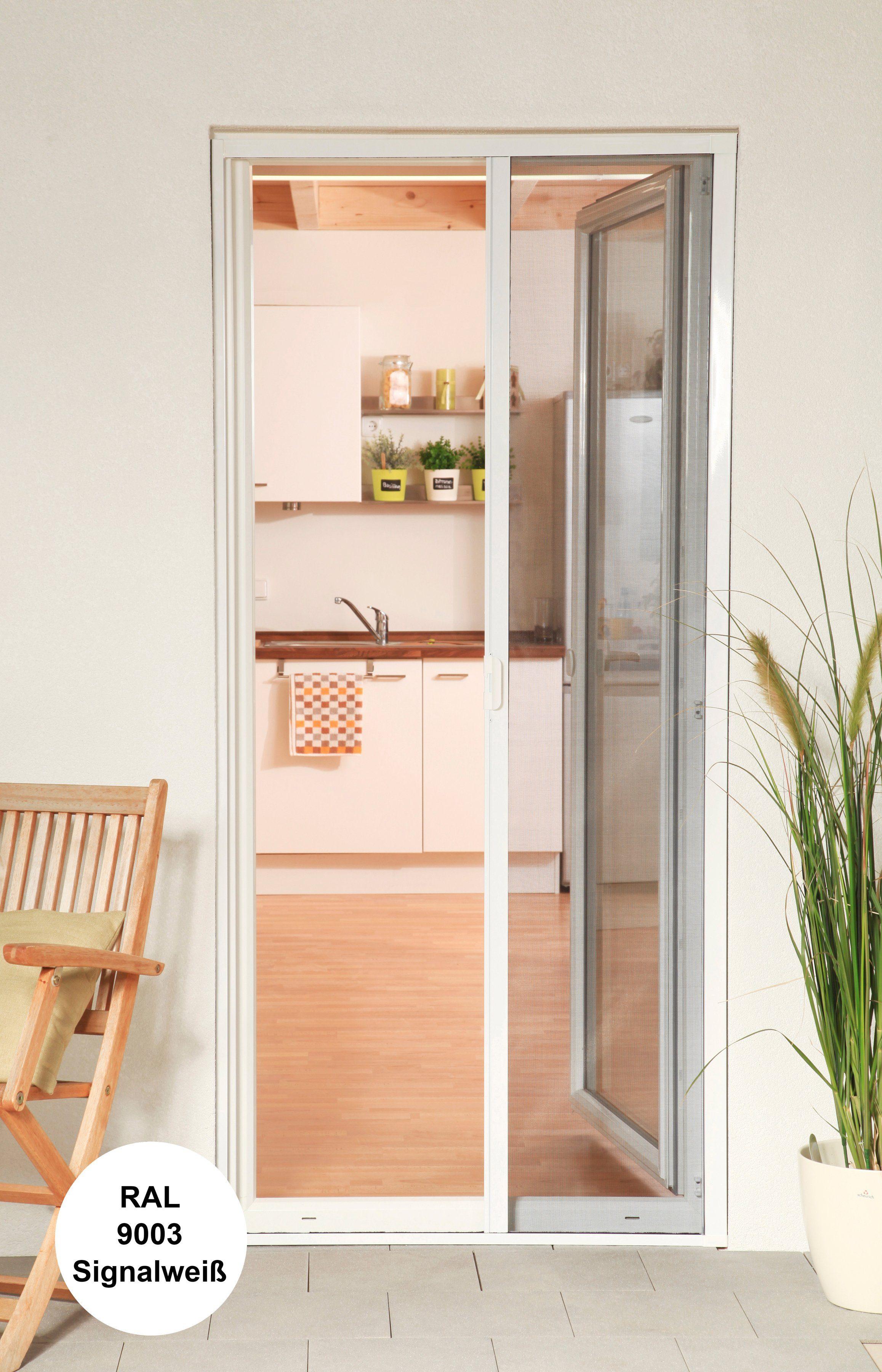 Culex Insektenschutz-Alu-Türrollo »Bausatz Smart« weiß BxH: 160 x 220 cm, weiß