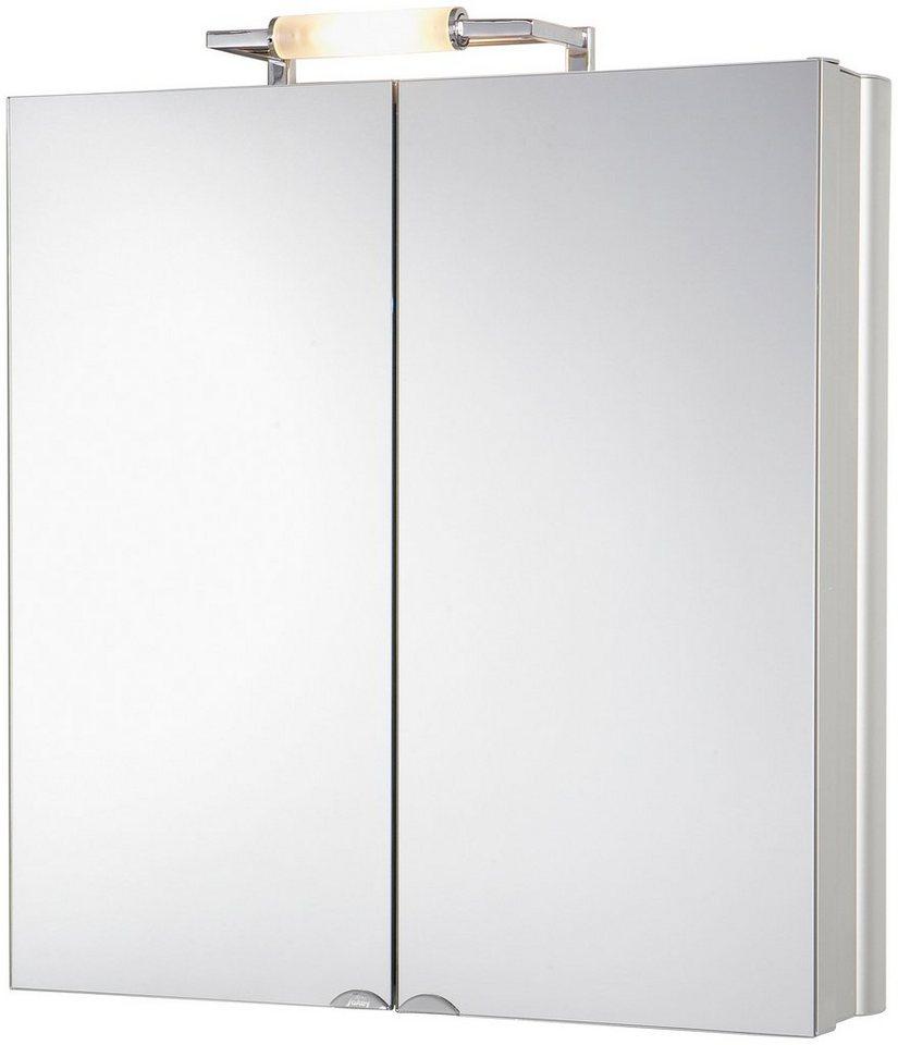 Spiegelschrank »BelAlu« Breite 65 cm, mit Beleuchtung in aluminiumfarben