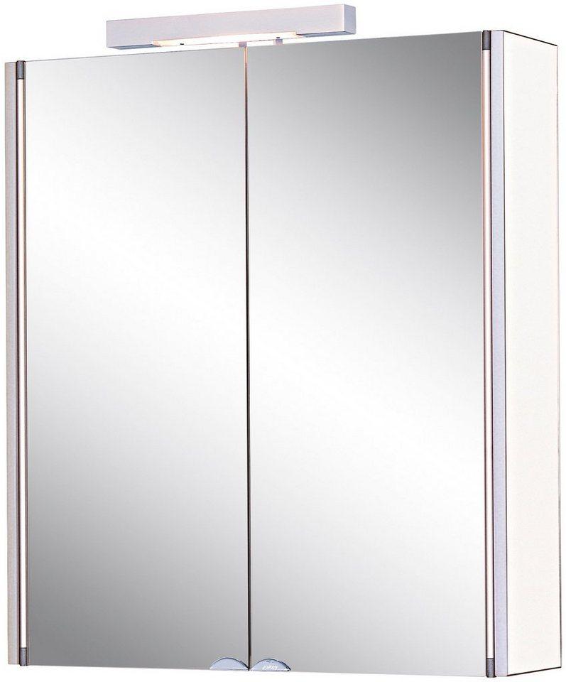 Spiegelschrank »Mandiol II« Breite 63 cm, mit Beleuchtung in weiß/aluminiumfarben