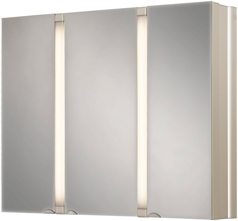 Jokey Spiegelschrank »SunAlu« Breite 80 cm, mit Beleuchtung in aluminiumfarben