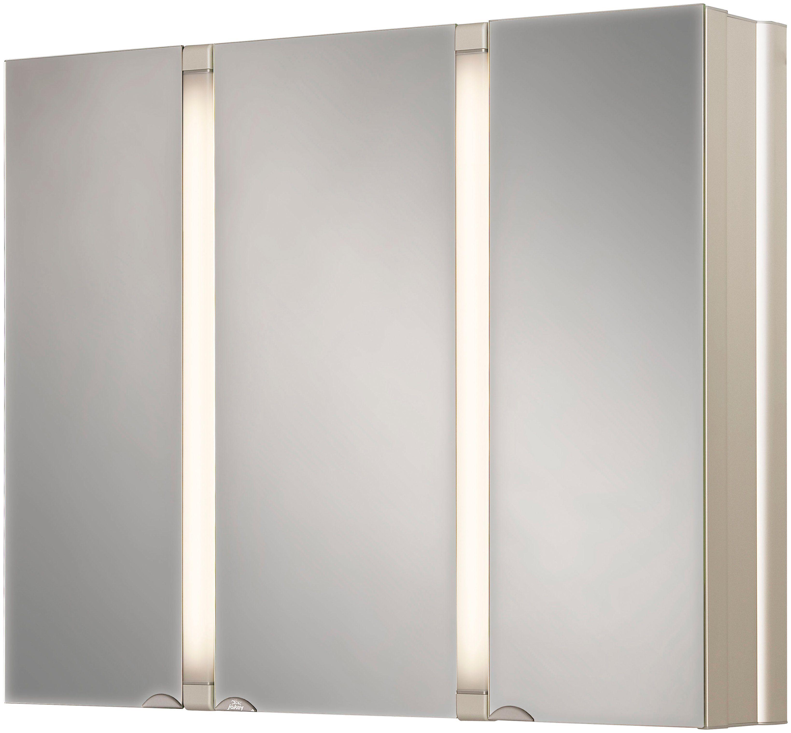 Jokey Spiegelschrank »SunAlu« Breite 80 cm, mit Beleuchtung