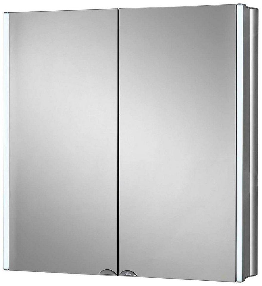 Spiegelschrank »LyndAlu« Breite 65 cm, mit LED-Beleuchtung in aluminiumfarben
