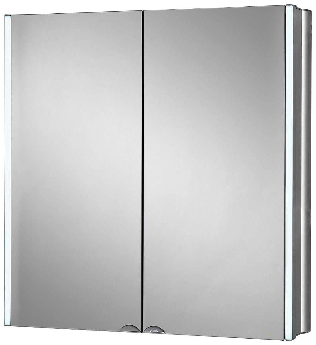 Spiegelschrank »LyndAlu« Breite 65 cm, mit LED-Beleuchtung