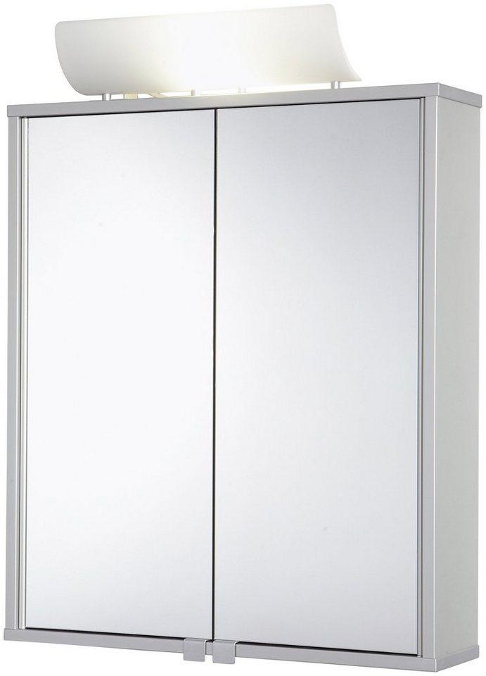 Spiegelschrank »Alusmart« Breite 60 cm, mit Beleuchtung in aluminiumfarben