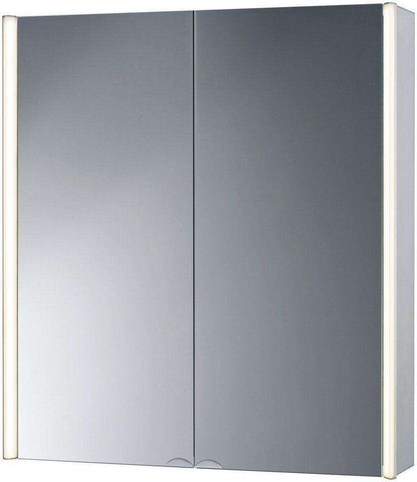 Spiegelschrank »CantAlu« Breite 67 cm, mit LED-Beleuchtung in aluminiumfarben