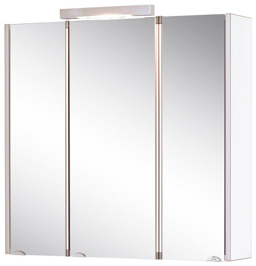 Spiegelschrank »Mandiol III« Breite 75 cm, mit Beleuchtung in weiß/aluminiumfarben