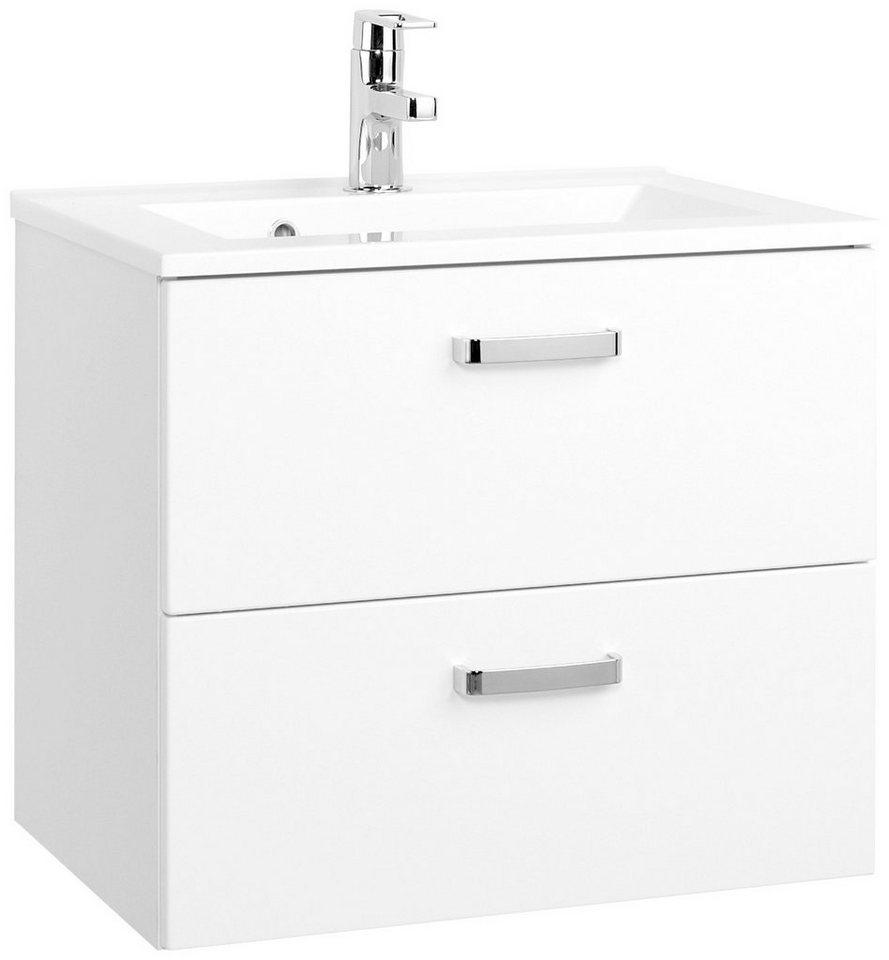 Held Möbel Waschtisch »Ancona«, Breite 60 cm, (2-tlg.) in weiß