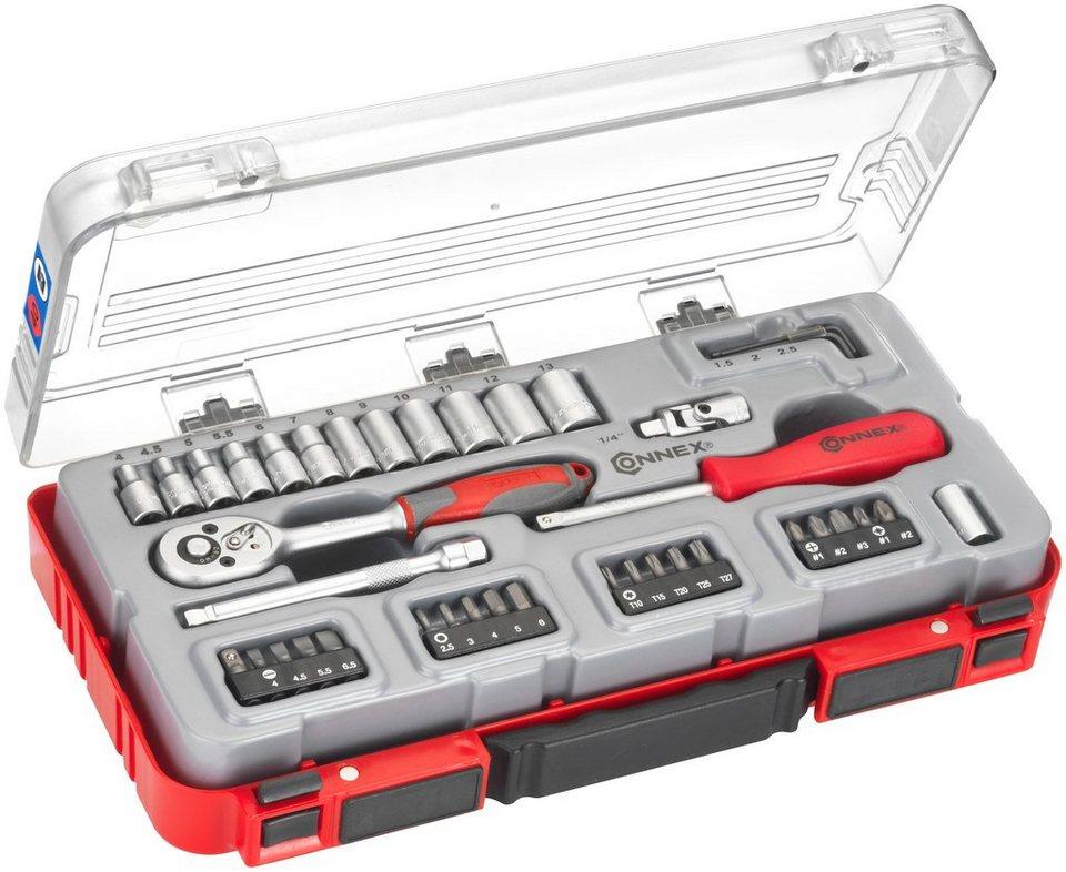 Steckschlüsselsatz »COX580240«, 40-tlg. in rot