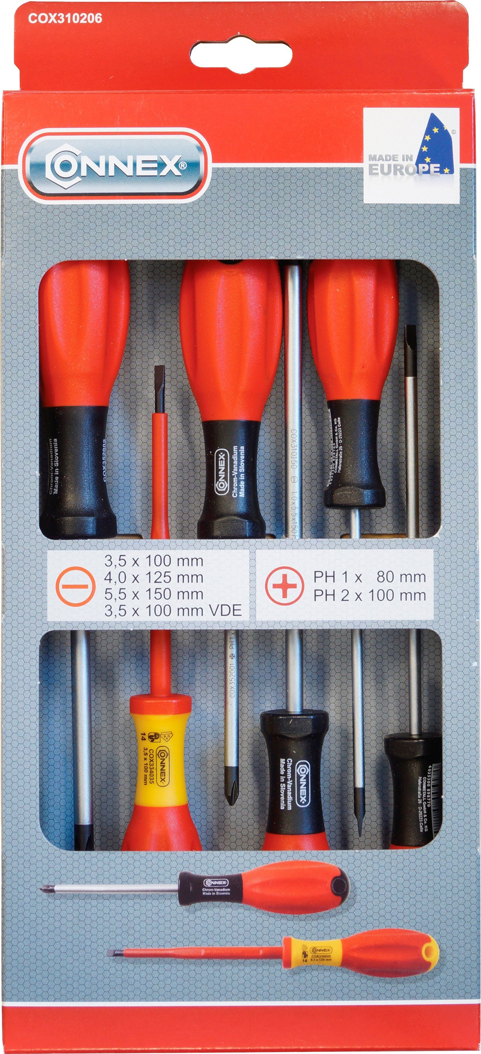 Connex Schraubendrehersatz »COX310206«, 6-tlg, sortiert