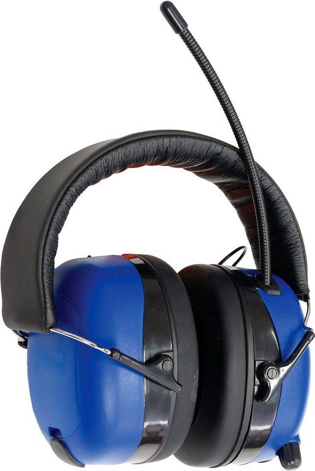 Connex Kapselgehörschutz »COXT938703«, mit Radio in blau