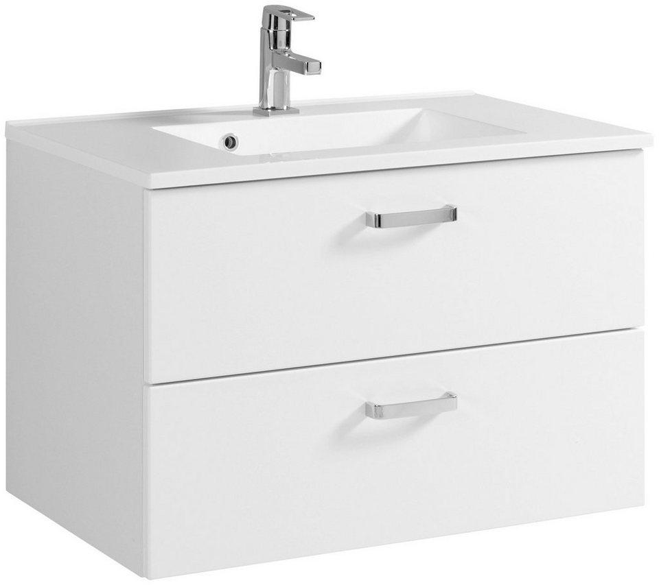 Waschtisch »Ancona«, Breite 80 cm, (2-tlg.) in weiß