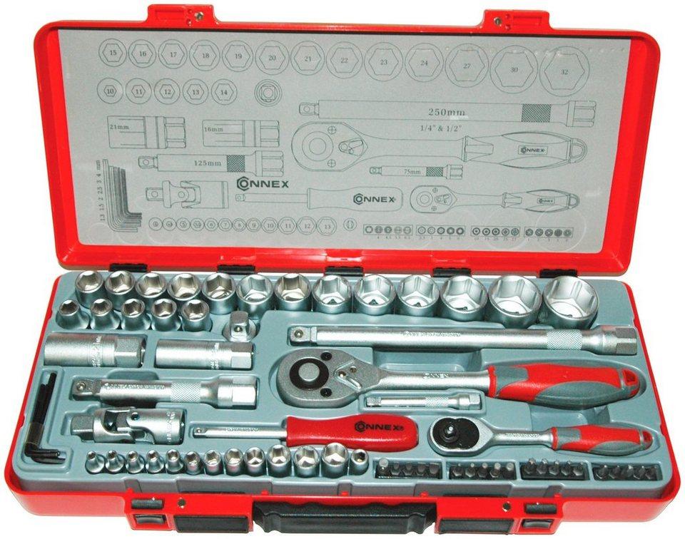 Steckschlüsselsatz »COX580267«, 67-tlg. in rot