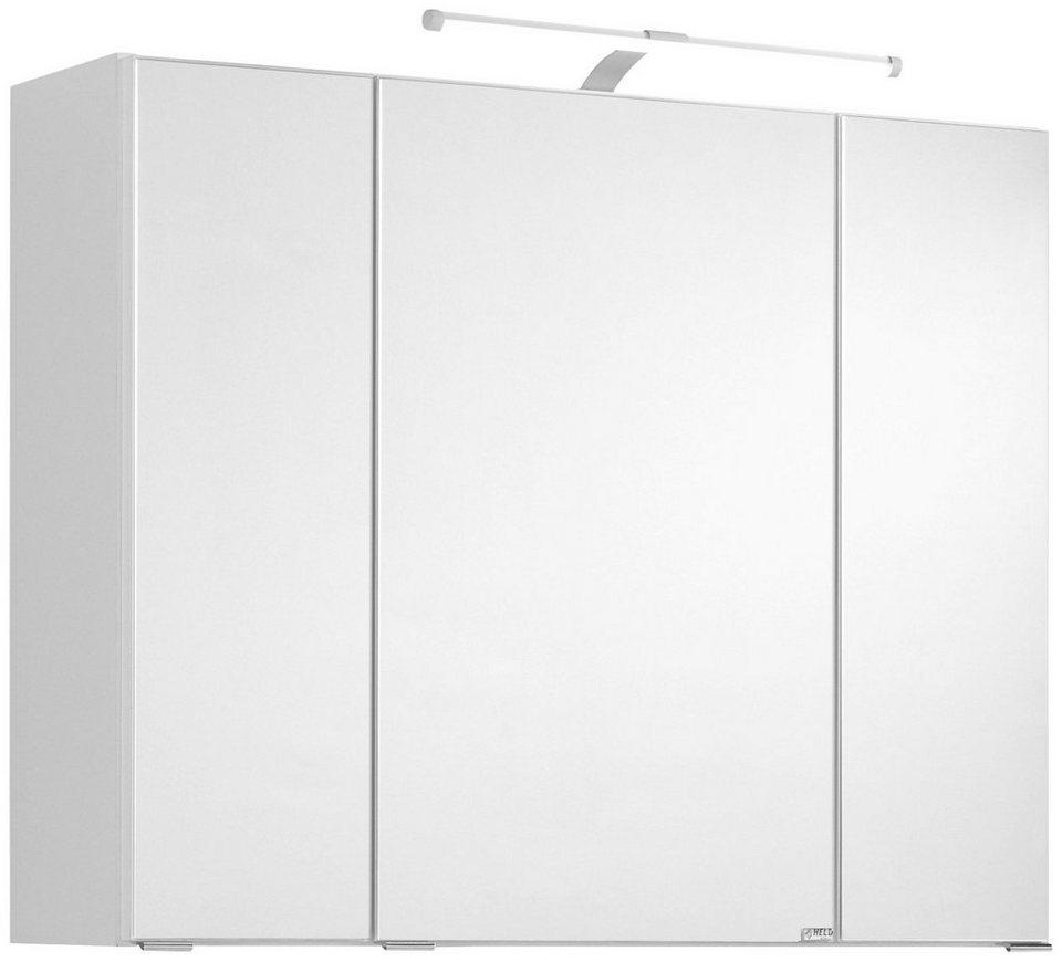 Spiegelschrank »Ancona« Breite 80 cm, mit LED-Beleuchtung in weiß