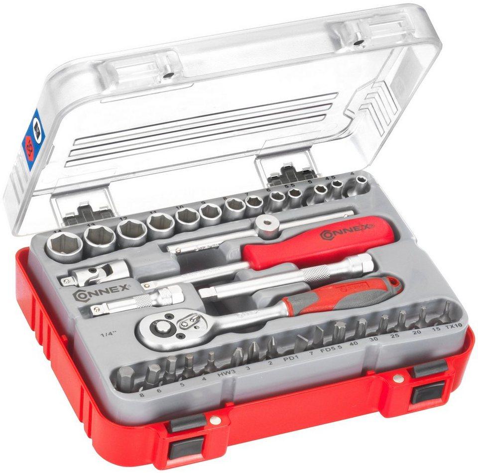 Steckschlüsselsatz »COX580235«, 35-tlg. in rot
