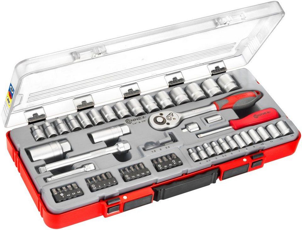 Steckschlüsselsatz »COX580258«, 58-tlg. in rot