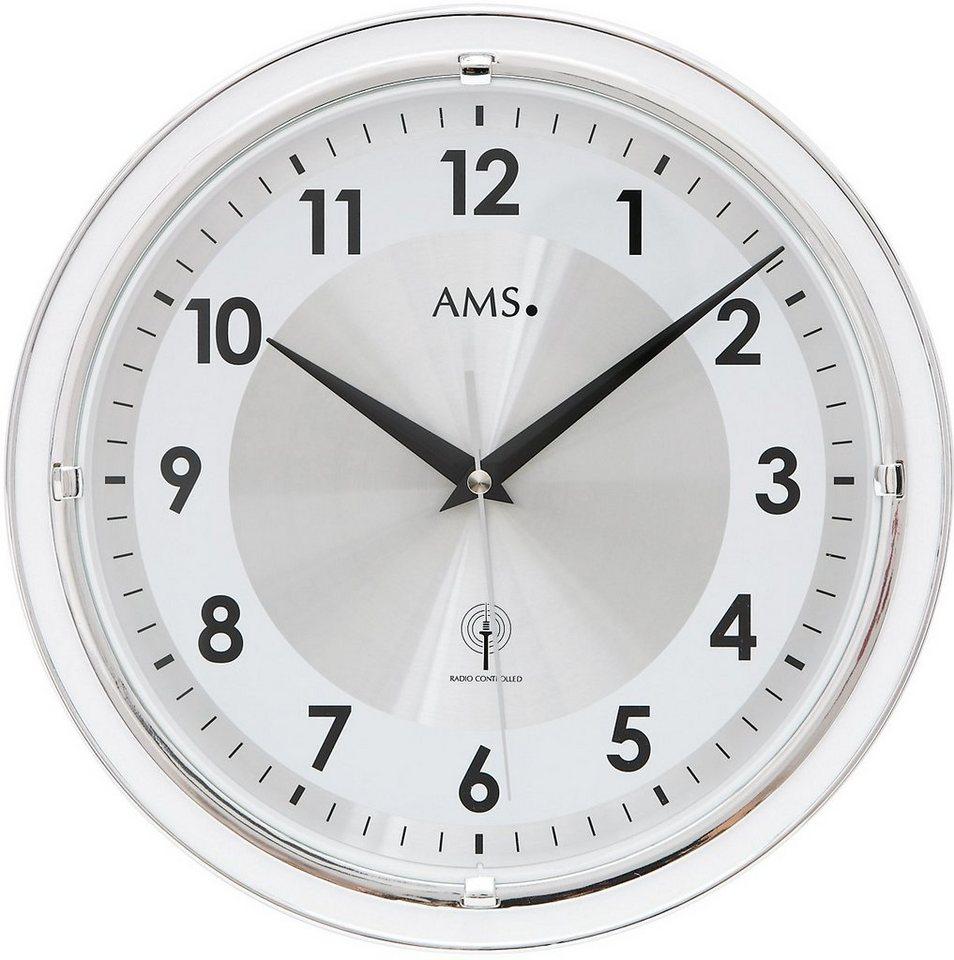 AMS Funkwanduhr, »F5945« in weiß