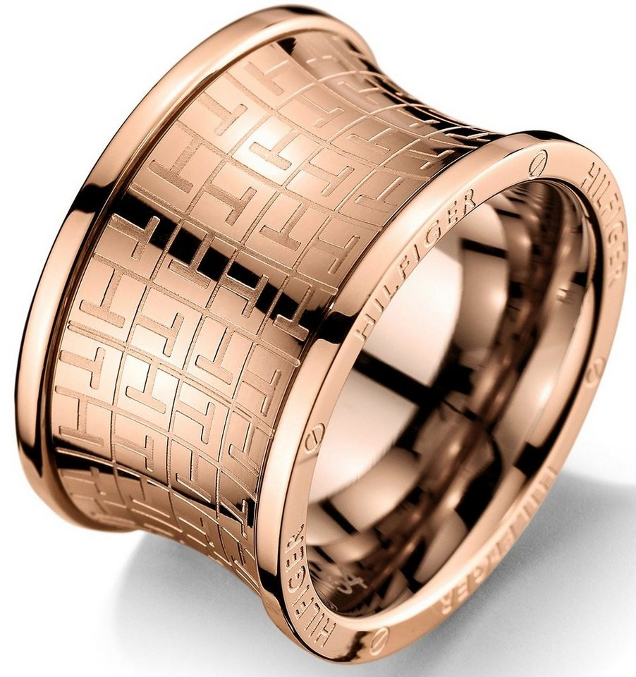 Tommy Hilfiger Ring, »Classic Signature, 2700818B-E« in roségoldfarben
