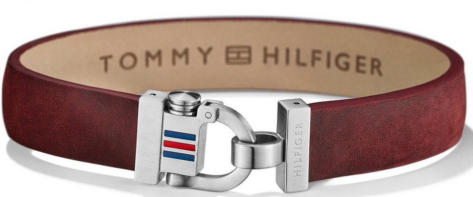 Tommy Hilfiger Armband, »Men's Casual, 2700769« in silberfarben-rot