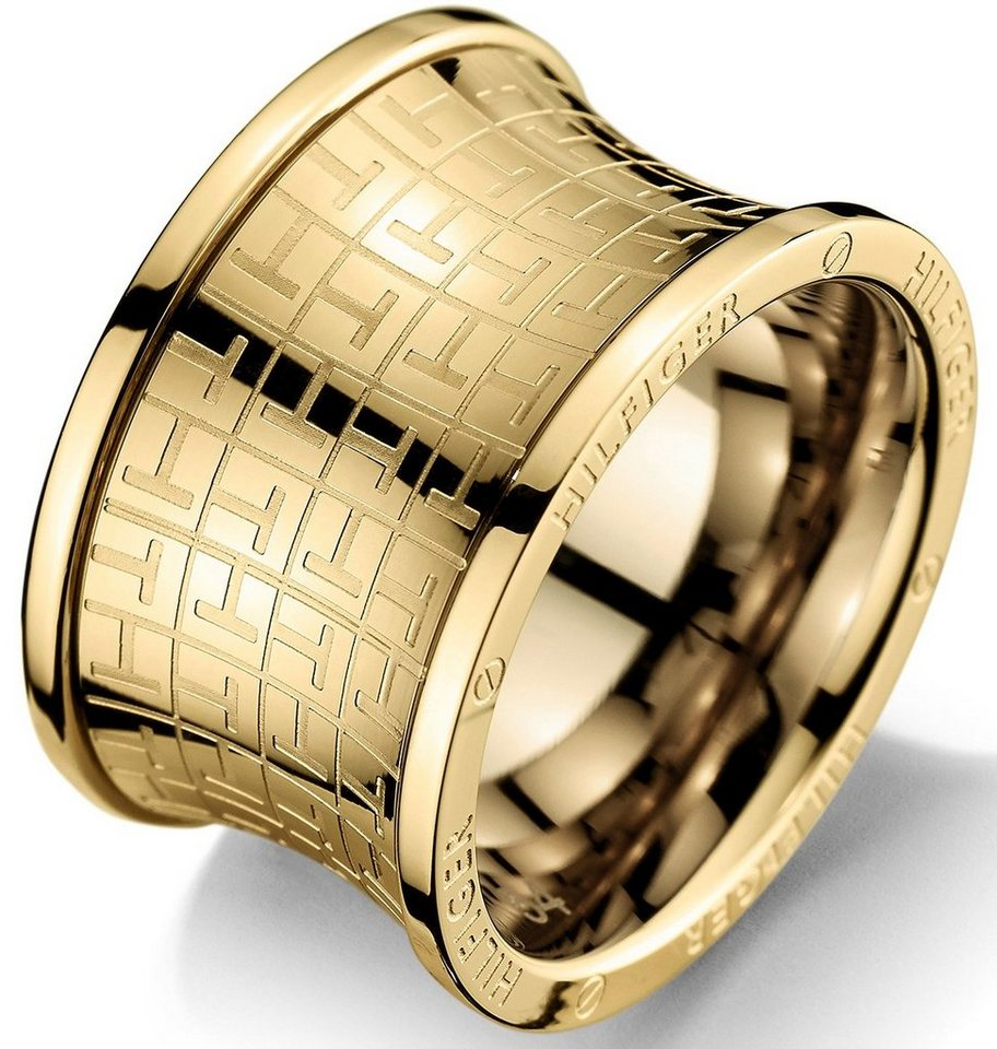 Tommy Hilfiger Ring, »Classic Signature, 2700817B-E« in goldfarben
