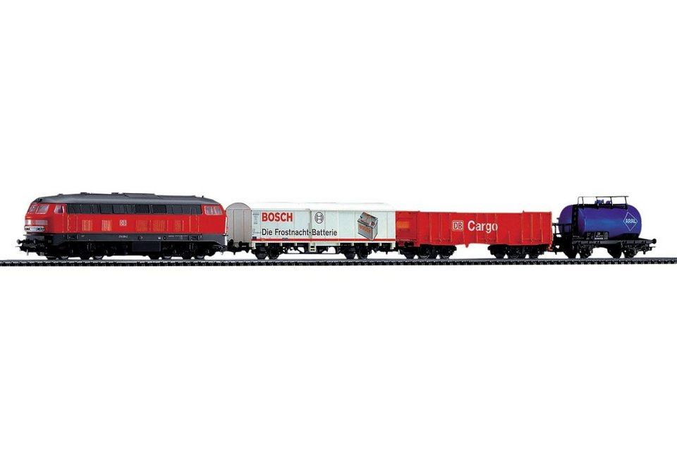 PIKO Starterset »Güterzug + 2 Gebäuden«, Spur H0 in bunt