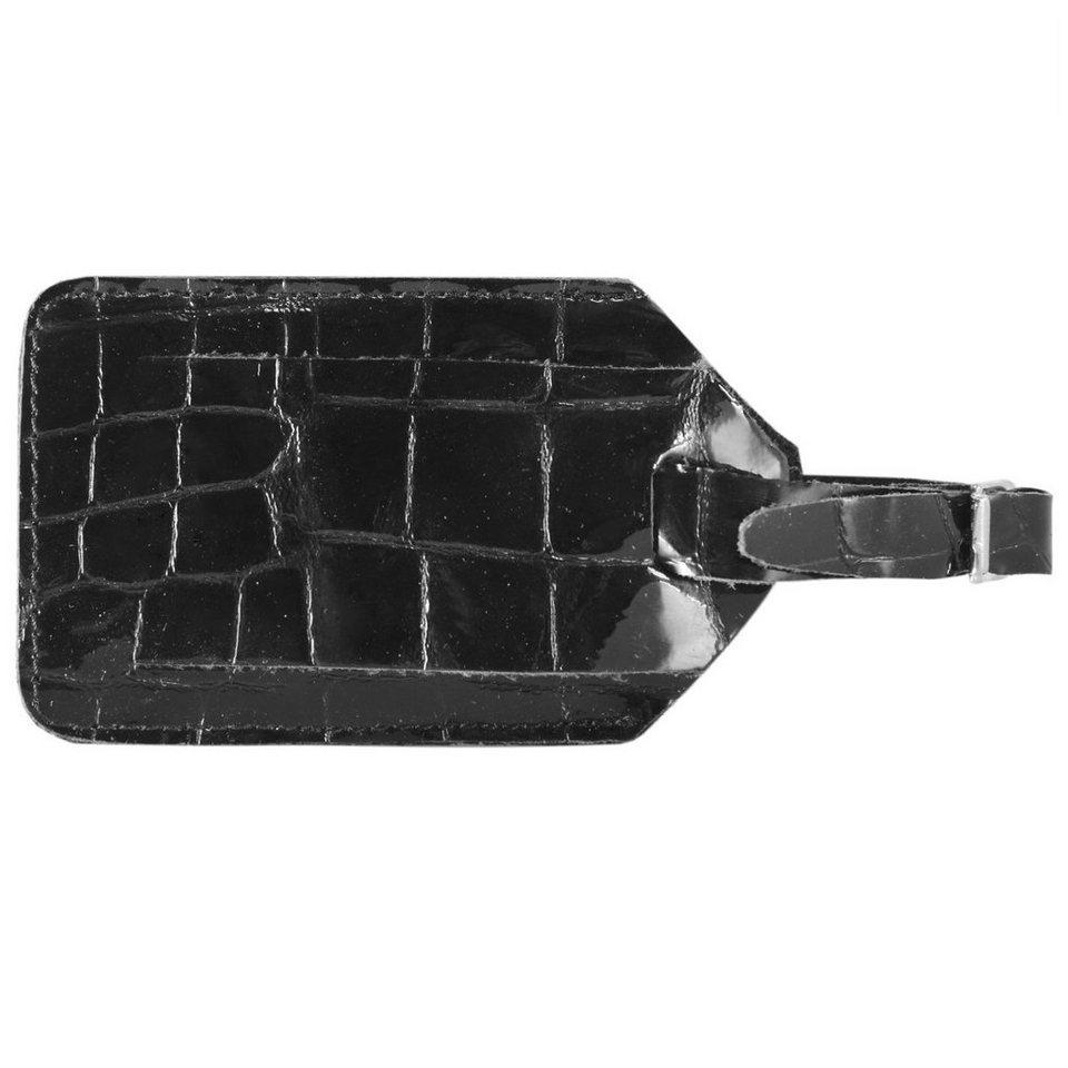 d & n Travel Zubehör Kofferanhänger Leder 10 cm in schwarz