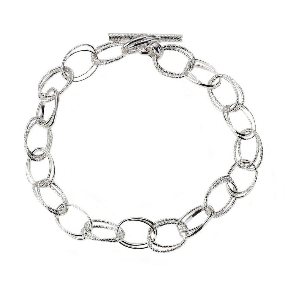 Zeeme Armband »925/- Sterling Silber 19cm lang« in weiß