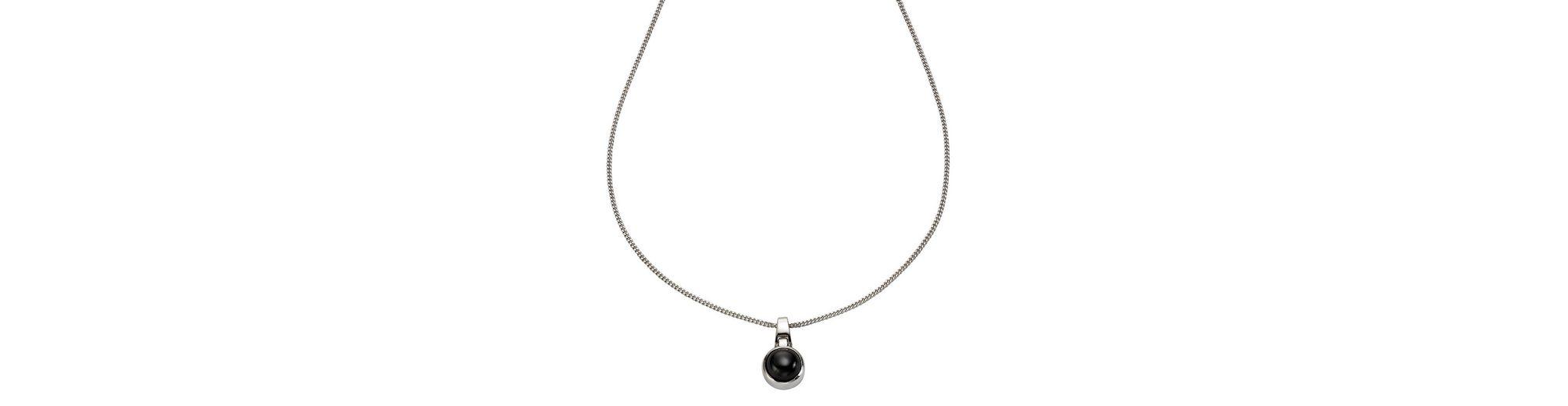 Zeeme Anhänger mit Kette »925/- Sterling Silber Zirkonia schwarz«