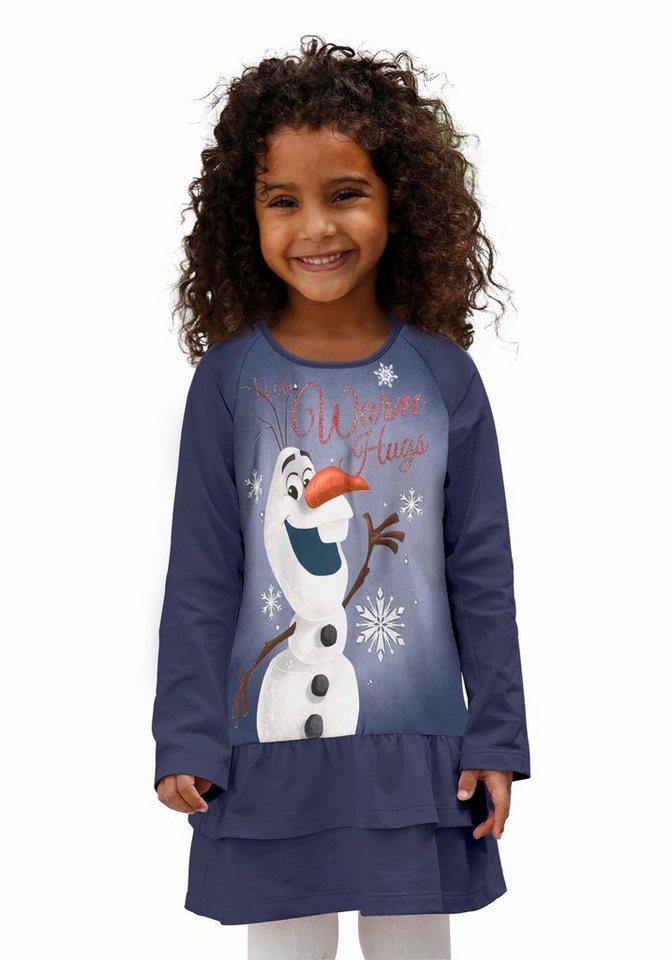 Disney Frozen Jerseykleid mit Motiv Olaf aus Frozen, die Eiskönigin in marine