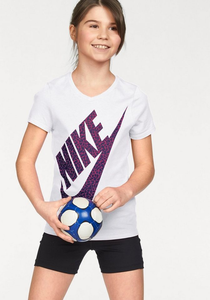 Nike T-Shirt »COTTON SHORT SLEEVE VNECK BM YOUTH« in weiß
