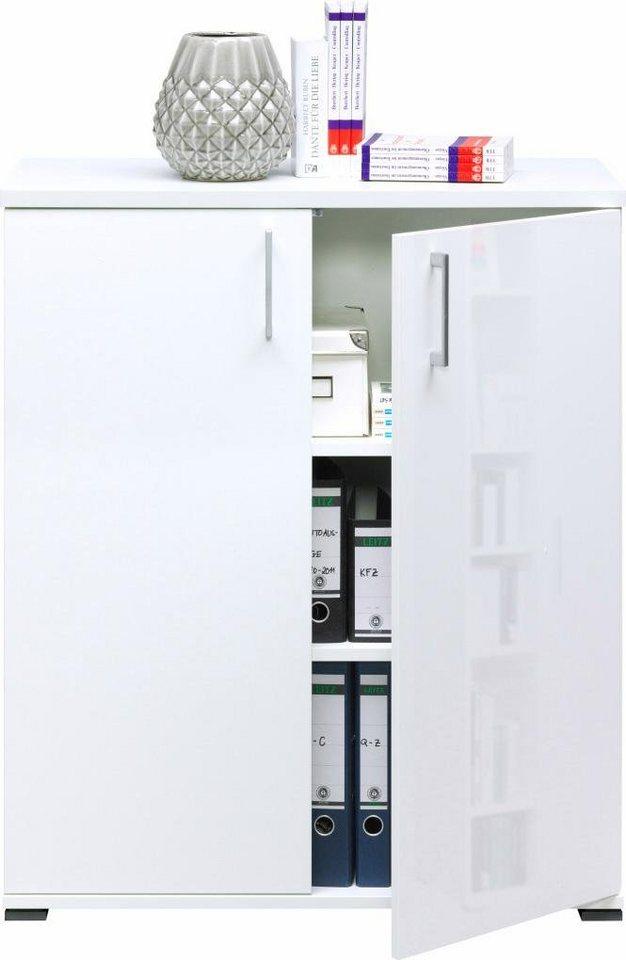 Kommode, CS Schmalmöbel, »rio ART Typ 720«, Breite 88 cm in weiß-weiß HG