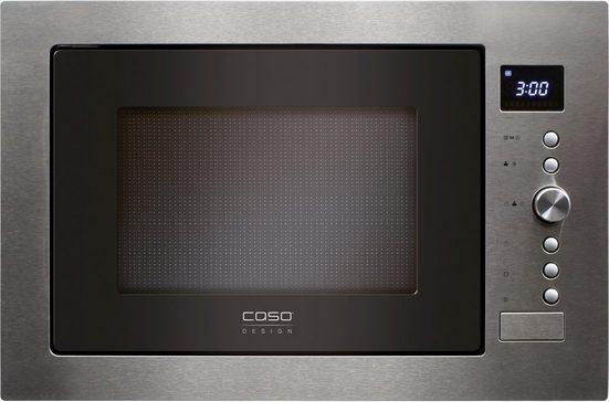 Caso Einbau-Mikrowelle EMCG32, Mikrowelle, Grill und Heißluft, 32 l