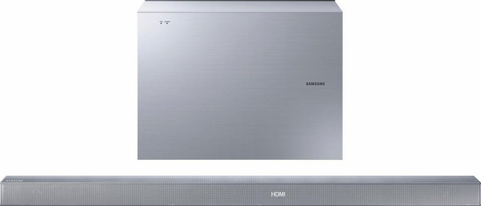 Samsung HW-K551 Soundbar (Hi-Res, Bluetooth) in silberfarben