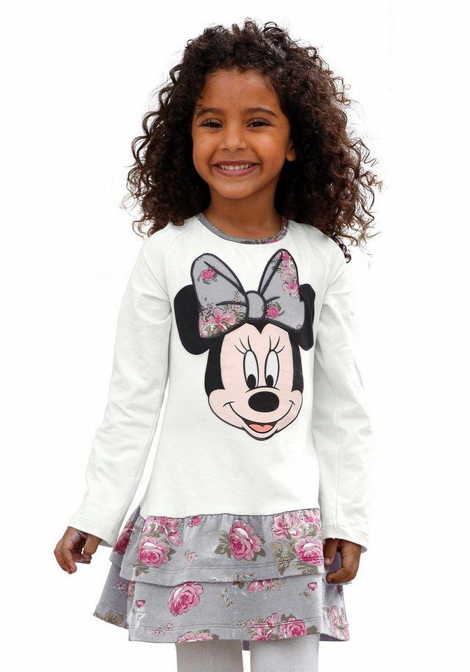 Disney Volantkleid mit Minnie Mouse Druck in natur-bedruckt