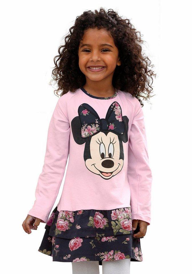 Disney Jerseykleid mit Minnie Mouse Druck in rosa-bedruckt