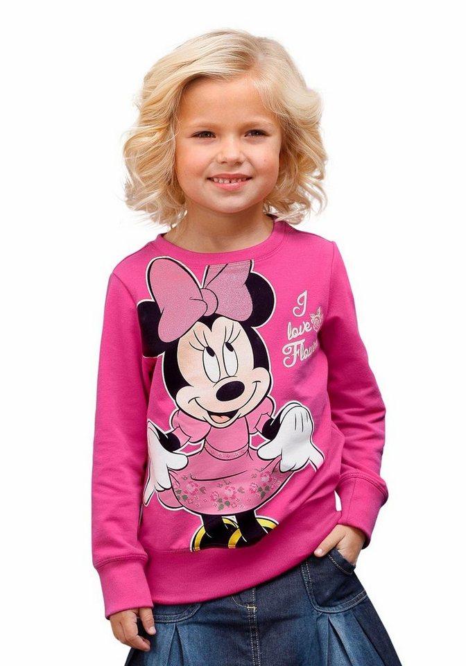 Disney Sweatshirt mit Minnie Mouse Druckmotiv in fuchsia