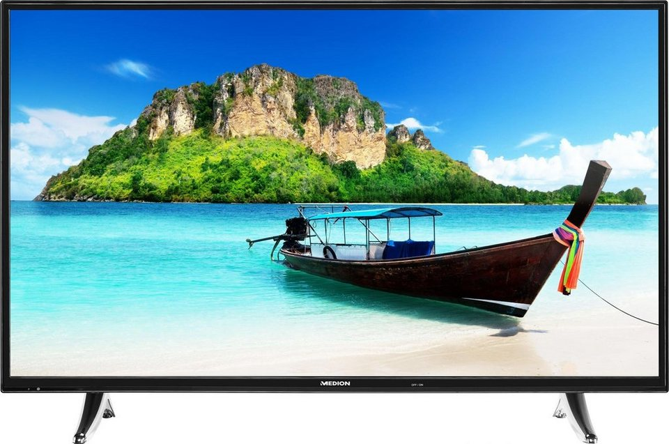 Medion® Life P18072 (MD 31093), LED Fernseher, 123 cm (49 Zoll), 1080p (Full HD), Smart-TV in silberfarben/schwarz