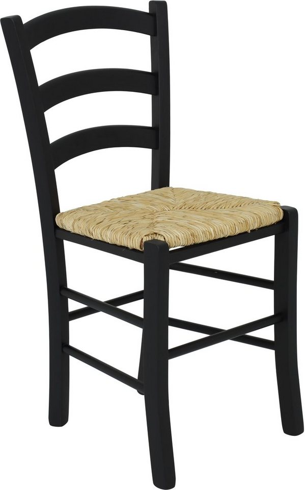 INOSIGN Stühle (2 Stck.) mit Binsengeflecht in schwarz