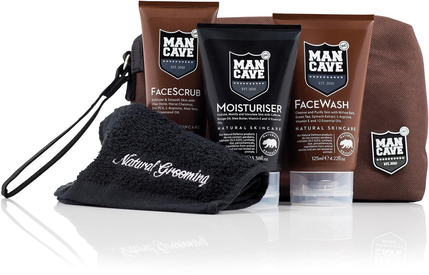 ManCave, »The WashBag Set«, Gesichtspflegeset für Männer