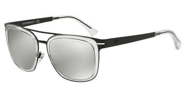 Emporio Armani Herren Sonnenbrille » EA2030« in 30016G - schwarz/silber