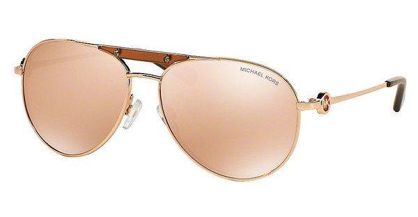 Michael Kors Damen Sonnenbrille »ZANZIBAR MK5001« in 1003R1 - rosa/ gold