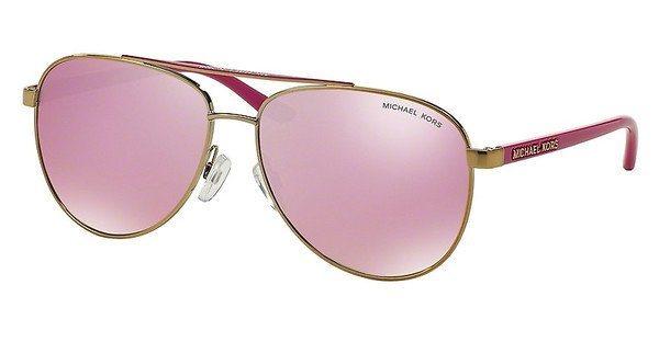 Michael Kors Damen Sonnenbrille »HVAR MK5007« in 10397V - gold/rosa